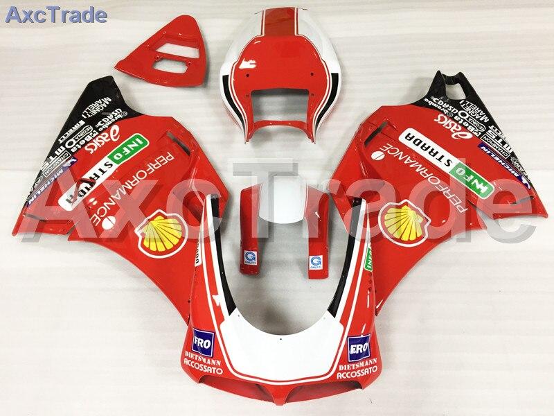 Мотоцикл Обтекатели Наборы для Ducati 748 916 996 998 1996 2002 96 02 ABS инъекции обтекателя Кузов комплект красный, белый A503