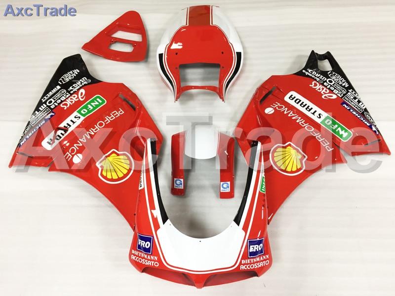Комплекты мотоцикл Обтекатели для Ducati 748 916 996 998 1996-2002 96 - инъекции 02 ABS обтекатель кузова комплект красный белый A503