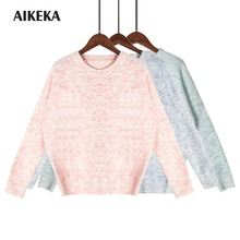Women Autumn Winter top O-neck Knitted Sweater Female Knitted Slim Pullover Ladies all-match Basic Long Sleeve Shirt blouse