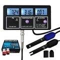 5-в-1 качество воды мульти-параметр PH EC CF TDS (ppm) измеритель температуры подсветка  настенный перезаряжаемый тестер
