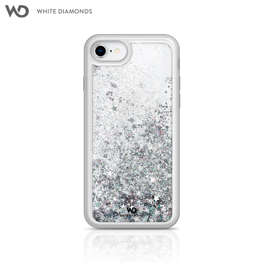 Case White Diamonds Sparkle Silver Stars for iPhone 8/7/6/6 S color silver kinston paper cut butterfly pattern pu leather full body case w stand for iphone 6 4 7
