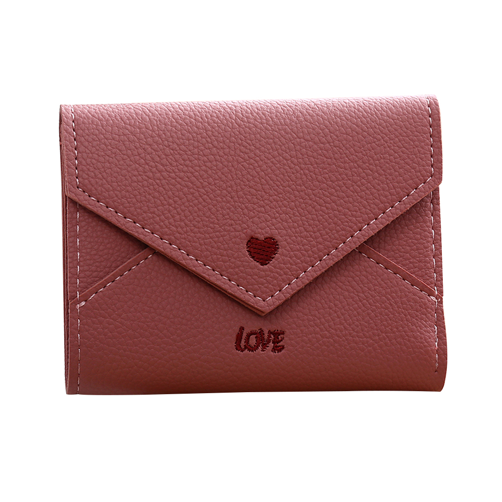 buckle gift card women love heart faux leather wallet card holder buckle 469