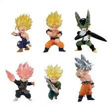 Figuras de Dragon Ball Adverge Movimento conjunto Troncos Goku Gohan goku Celular Rosa Bonecas Brinquedos Estatueta PVC Figur