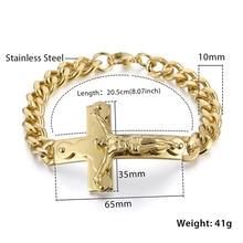 Men's Christian Jewelry Jesus Cross Bracelet