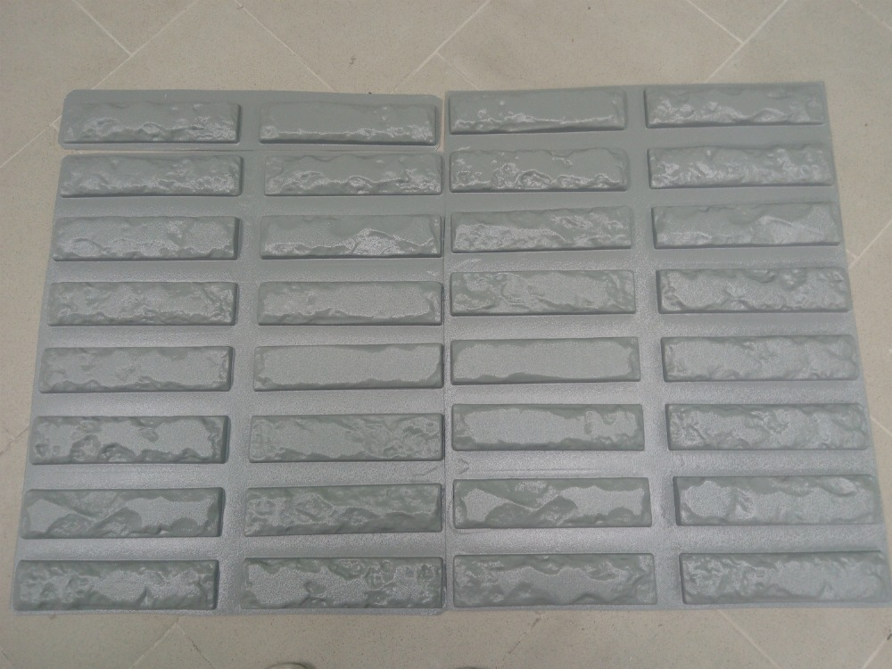 32pcs Plastic Molds for Concrete Plaster Super Best Price Wall Stone Cement Tiles old Brick Decorative