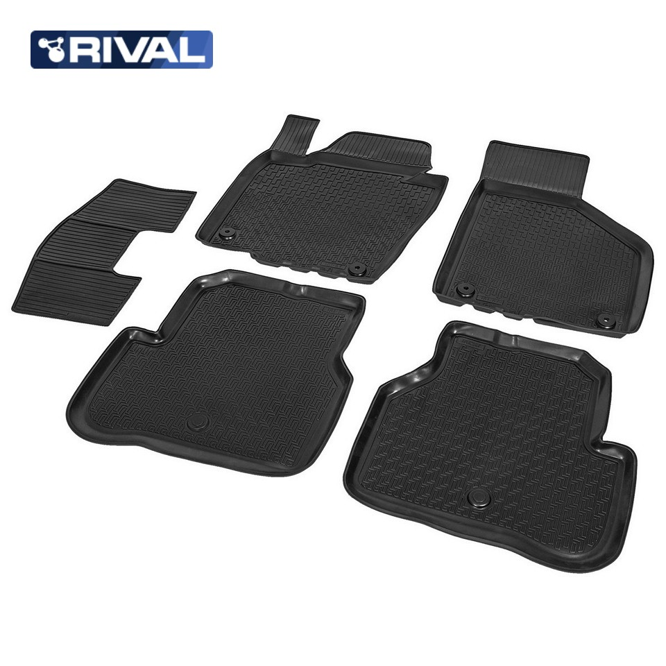 For Volkswagen Passat B7 2010-2015 floor mats into saloon 5 pcs/set Rival 15803001 все цены