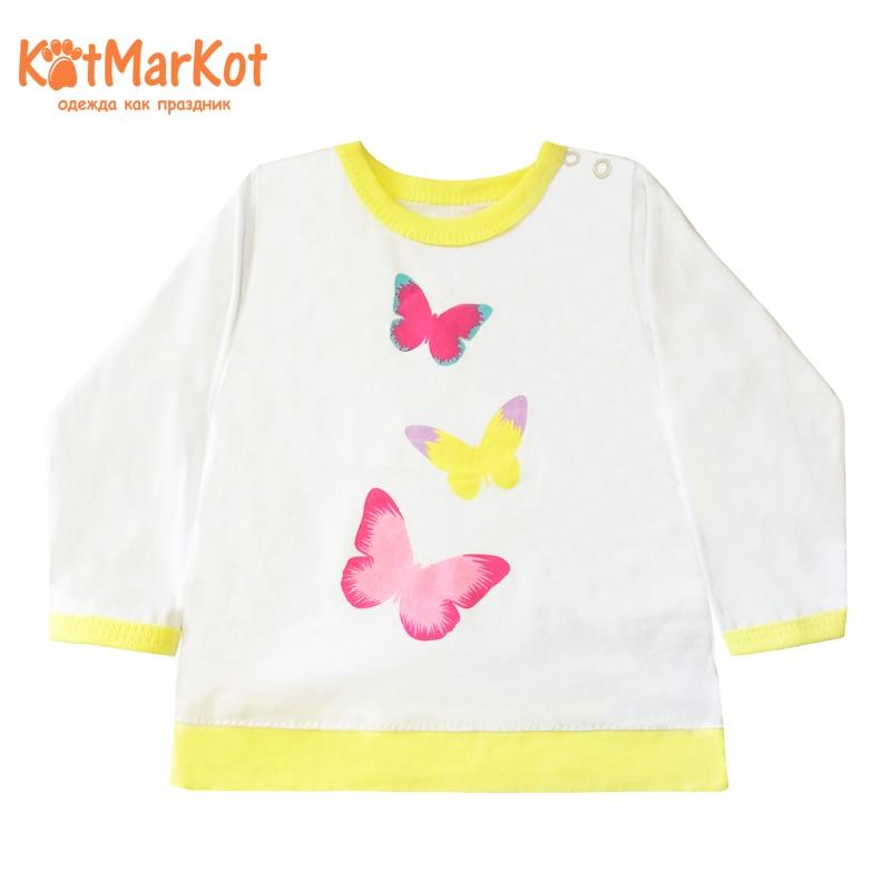 где купить Blouse Kotmarkot 7853 children clothing cotton for baby girls kid clothes дешево