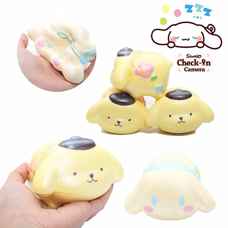 bilder für 10 Teile/los Cartoon Purin Cinnamoroll Hund Squishy Nette Japan Langsam Steigenden Jumbo Phone Strap Duftenden Anhänger Brot Kuchen Kind Spielzeug geschenk