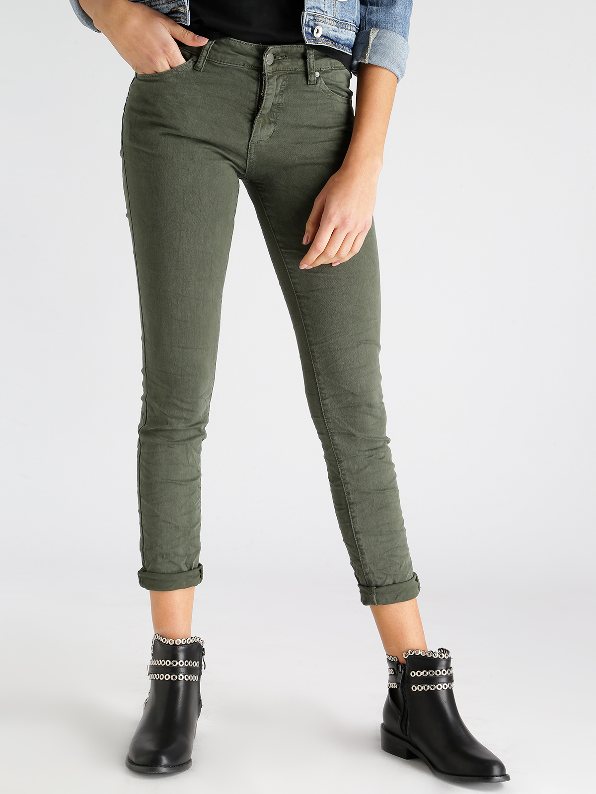 Jeans Pants Effect Wrinkled