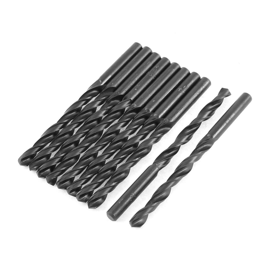 Подробнее о Uxcell 10Pcs 6Mm 7Mm 8Mm Cutting Dia 90Mm Length Hss Straight Shank Twist Drill Bit Black Length . | 101mm | 102mm | 106mm | uxcell 7mm boring dia 10mm shank brad point solid carbide dowel drill bit