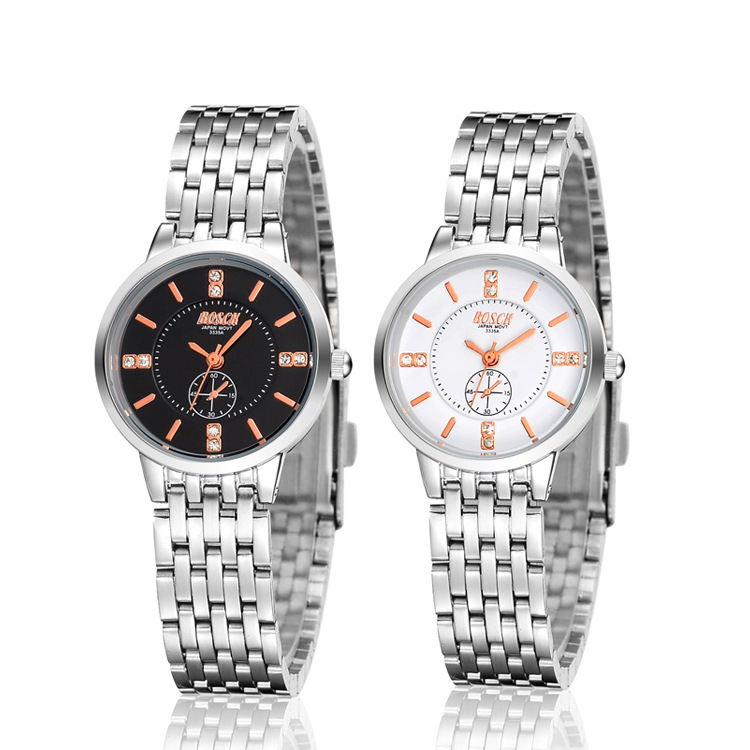 Watch Women Stainless Steel Rose Gold Silver Wrist Watch Luxury Ladies Rhinestone Quartz Watch Relogio Feminino New 2016 new ladies fashion watches decorative grape no word design gold watch stainless steel women casual wrist watch fd0107