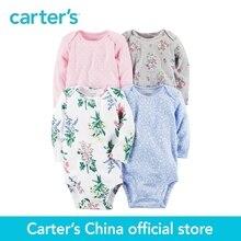 4 pcs bébé enfants enfants 4-Pack de Carter À Manches Longues Combinaisons 126G658, vendu par Carter de Chine officielles magasin