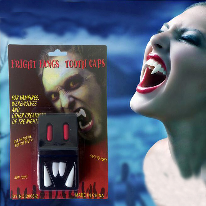 Vampire Teeth Customs Terror Party Cosplay Dentures Fancy Dress Adult Kids Role Playing Prop Accessory