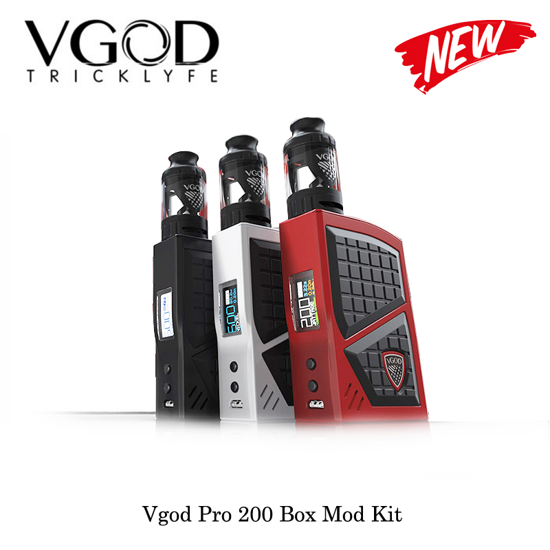 electronic cigarettes Vgod Pro 200 Box Mod Kit With VGOD SUBTANK 5mL Adjustable Mod Powered By