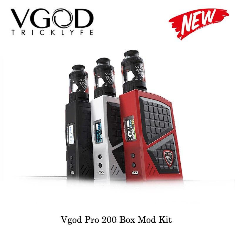 Sigarette elettroniche Vgod Pro 200 Box Mod Kit Con VGOD SERBATOIO AUSILIARIO 5 ml Regolabile Mod Alimentato Da Dual 18650 Batteria vape Vaporizzatore