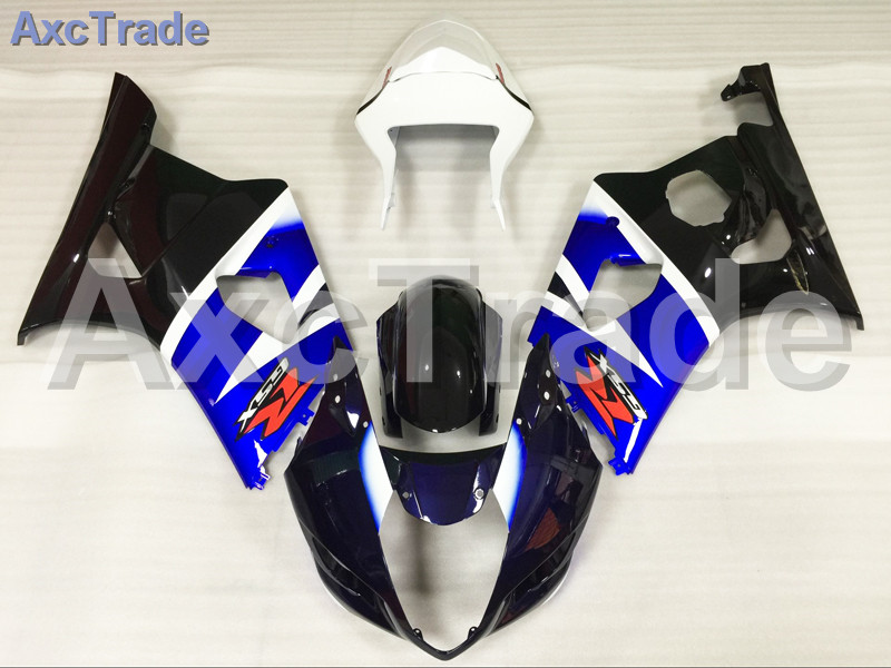 Motorcycle Fairings For Suzuki GSXR GSX-R 1000 GSXR1000 K3 2003 2004 03 04 ABS Plastic Injection Fairing Bodywork Kit Blue Black custom road fairing kits for suzuki glossy flat black 2006 gsxr 1000 k5 2005 gsx r1000 06 05 motorcycle fairings kit