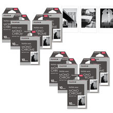 Fujifilm Instax Mini Film Monochrome MONOภาพยนตร์ 10 100 แผ่นสำหรับMINI MINI 9 MINI 8 8 PLUS 70 90 25 7Sกล้องSP 1 SP 2