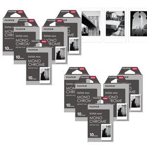 Image 1 - Fujifilm Instax Mini Film Monochrome Mono Films 10 100 sheets For Instant Mini 9 Mini 8 8 Plus 70 90 25 7s Camera SP 1 SP 2