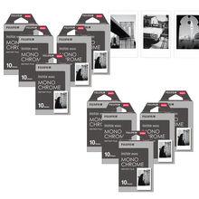 Fujifilm Instax Mini Film monokrom Mono filmler 10 100 sayfa anında Mini 9 Mini 8 8 artı 70 90 25 7s kamera SP 1 SP 2