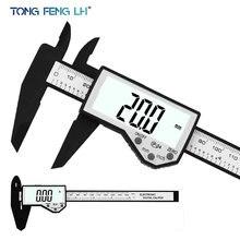 Calibrador electrónico de plástico impermeable IP54, 0-150mm, 6 pulgadas, LCD, Digital, Vernier