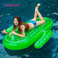FEWIYONI 180 * 165CM thick green inflatable cactus outdoor floating adult pool party toy water bed swim ring beach holiday