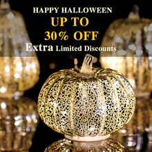 GiveU Mercury Glass Pumpkin Flameless Candle for Halloween and Thanksgiving Decor, Led light with Timer,Silver цена