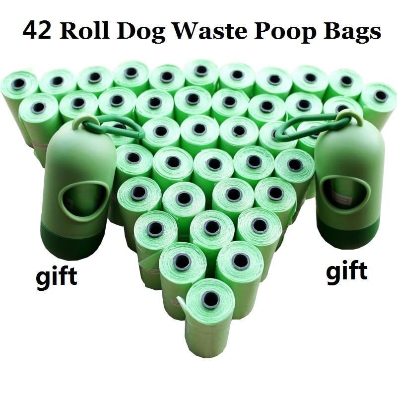 1Pack 12 20 42 Rolls Dog Poop Bags With Dispenser Capsule Shape Doggie Waste Bags Pooper