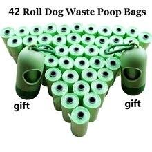 1 упаковка = 12/20/42 рулонов пакеты для уборки за собакой с дозатором Capsule Форма собачка мусорные мешки пупер-скрупер сумки 3 цвета