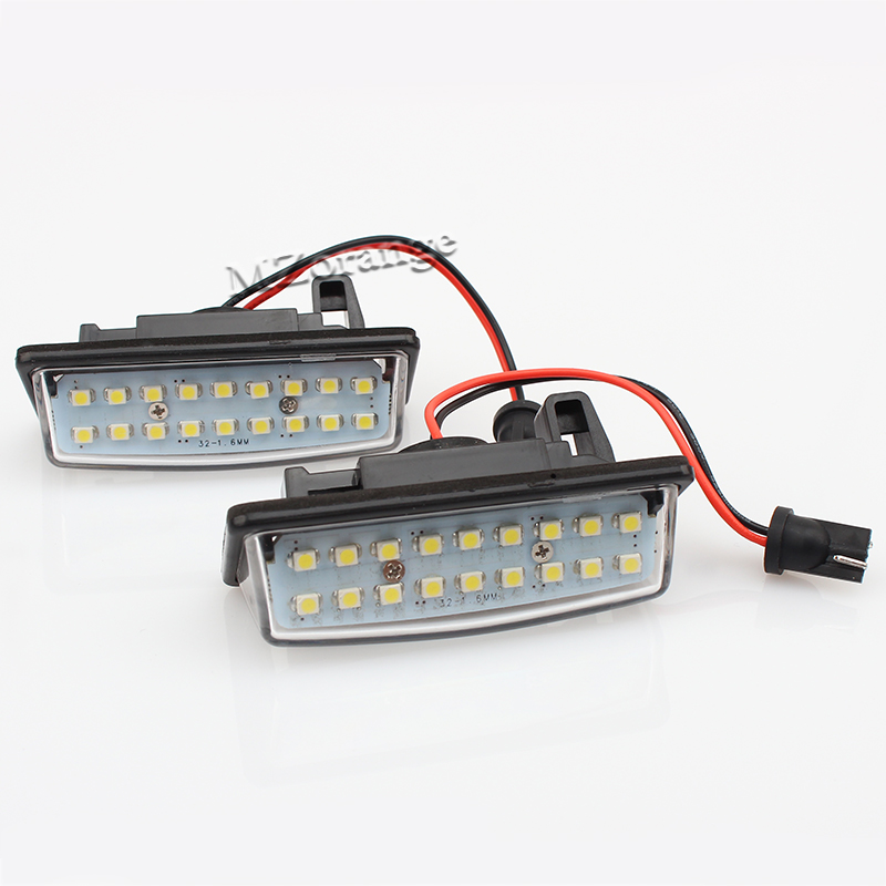 Fit For Nissan TEANA J31 J32 Maxima Cefiro Altima Rogue Sentra Error Free 18 3528 SMD LED License Number Plate Lamp Car Light direct fit for kia sportage 11 15 led number license plate light lamps 18 smd high quality canbus no error car lights lamp page 4