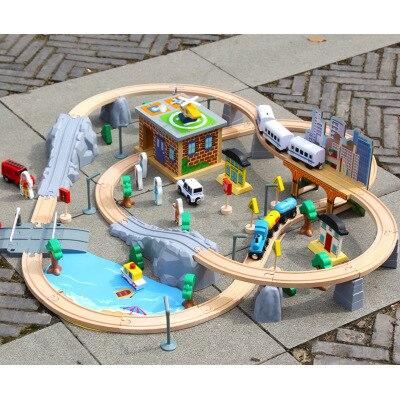 95 pièces de jouets pour enfants pour voitures de chemin de fer, blocs de construction pour jouets pour enfants pour scènes élevées de transport urbain