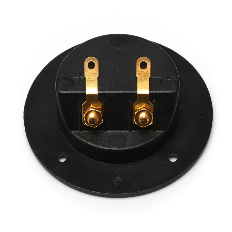 Terminal Round Cup Connector Parts Express Spring 502 Double Binding Post Gold Twist Banana Jacks Subwoofer Speaker Box Black