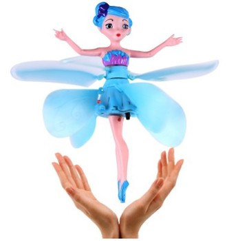 Flying Angel Dolls Toy Infrared Induction Control Flying Dolls Remote Control Flying Toys For Children Girl Creative Gift drone 1