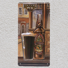 1 pc Irish Whisky Bar pub drink shop store beer plaques  Tin Plates Signs wall Decoration Metal Art Vintage Poster