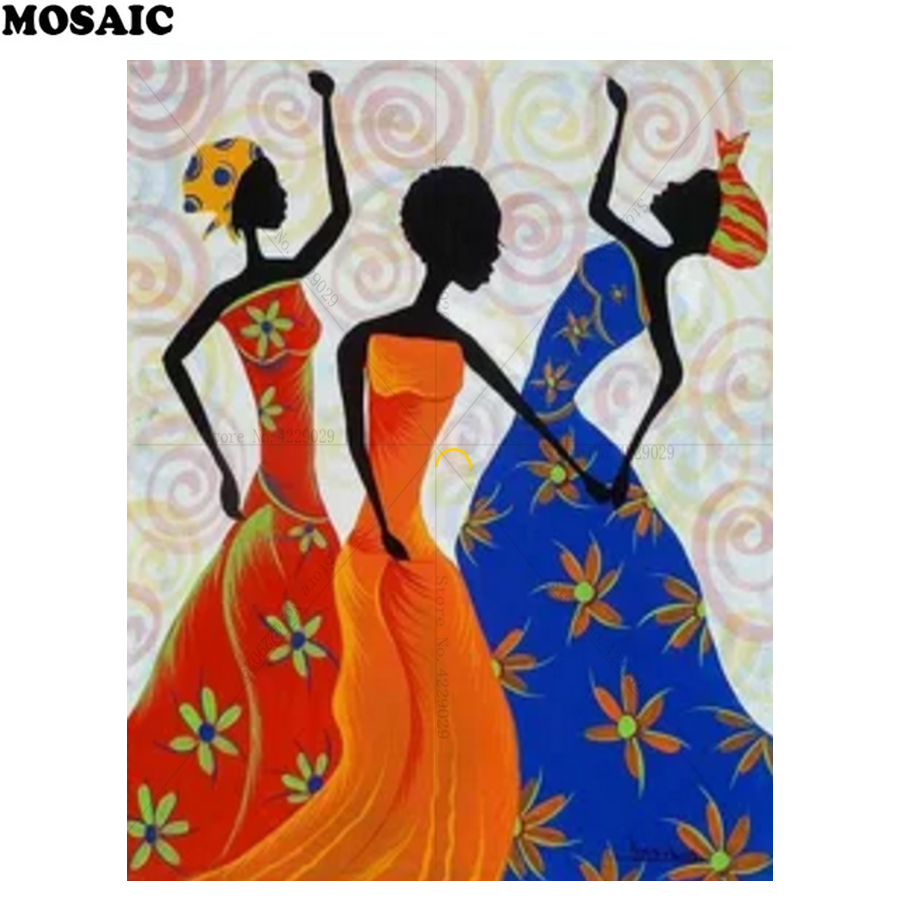 2018 New Product 5D DIY Diamond Painting Full Diamond Embroidery african woman Mosaic Resin Drill Home Decoration D91