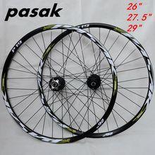 """2"""" 29"""" 27,"""" 32 отверстия дисковый тормоз колеса для горного велосипеда шесть отверстий Центральный замок колеса горного велосипеда передние 2 задние 4 герметичные подшипники"""