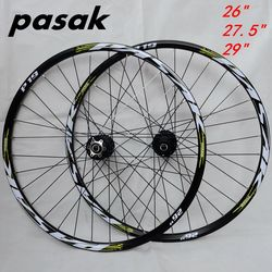 26 ''29 27.5 32 trous frein à disque roues de vélo de montagne Six trous verrouillage central vtt roues de vélo avant 2 arrière 4 roulements scellés