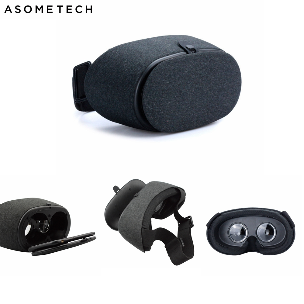 ASOMETECH 3D Game Helmet Virtual Reality Intelligence VR Glasses Headset Stereo Box Fabric Art VR For 4.7-6 inch Mobile Phone