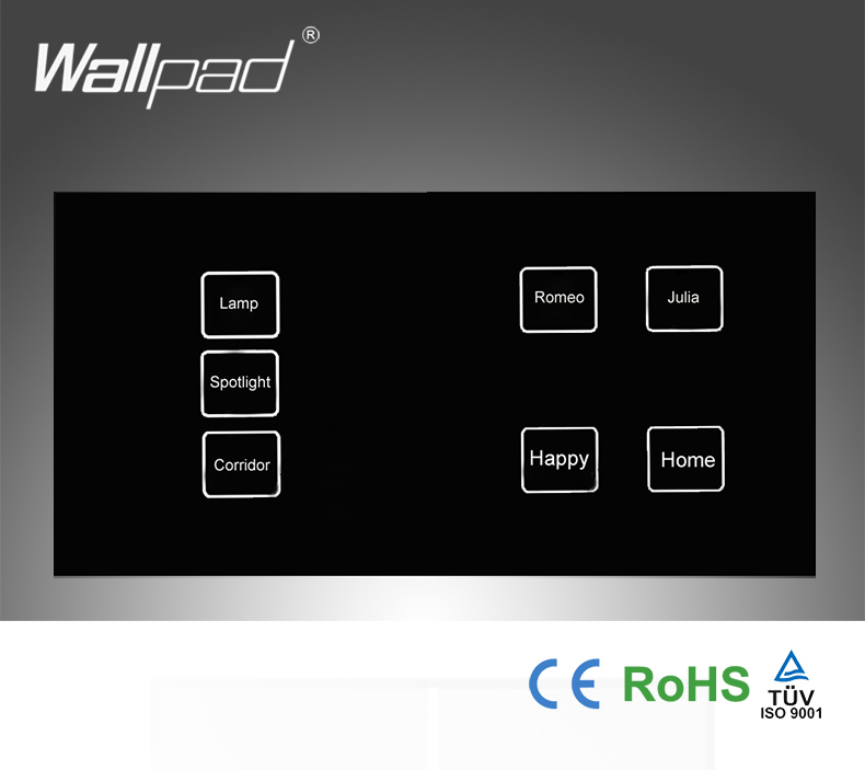 New Arrival 7 gangs 2 way 172*86mm Black Crystal Glass Led Backlight Double Control Touch light wall switches, Free Shipping new design 2 gangs 1 way crystal glass led black touch switches wallpad ac 110 250v wall light touch screen switch free shipping