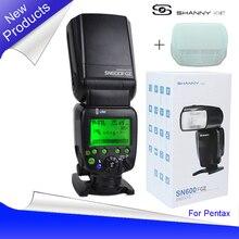 Новый shanny sn600fgz P-TTL GN60 1/8000 s раб на-Камера Вспышка Speedlite для Pentax K100 k100D K200D K-7 K-X K-R K-5 K-01