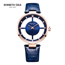 Kenneth Cole Women Watch Quartz Leather Band Water Resistant Watches Elegant Hollow Women's KC2643