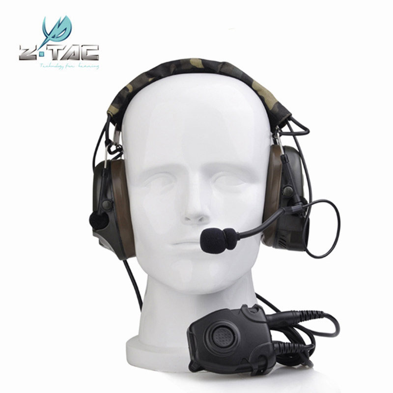 Z Tactical Comtac Peltor Headset Z054 combat I Tactical noise reduction Earphone with Z112 PTT stand rrb versionZ Tactical Comtac Peltor Headset Z054 combat I Tactical noise reduction Earphone with Z112 PTT stand rrb version