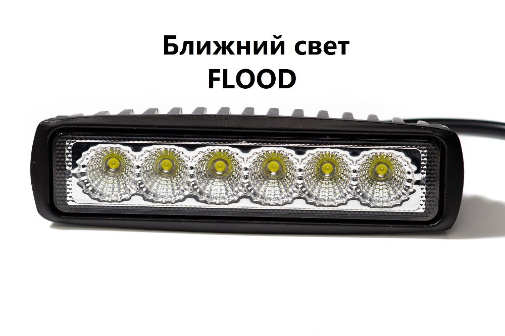 1 piece 18 w LED Worklight Lampu Sorotan Lampu Sorot Led Day Time - Lampu mobil - Foto 2