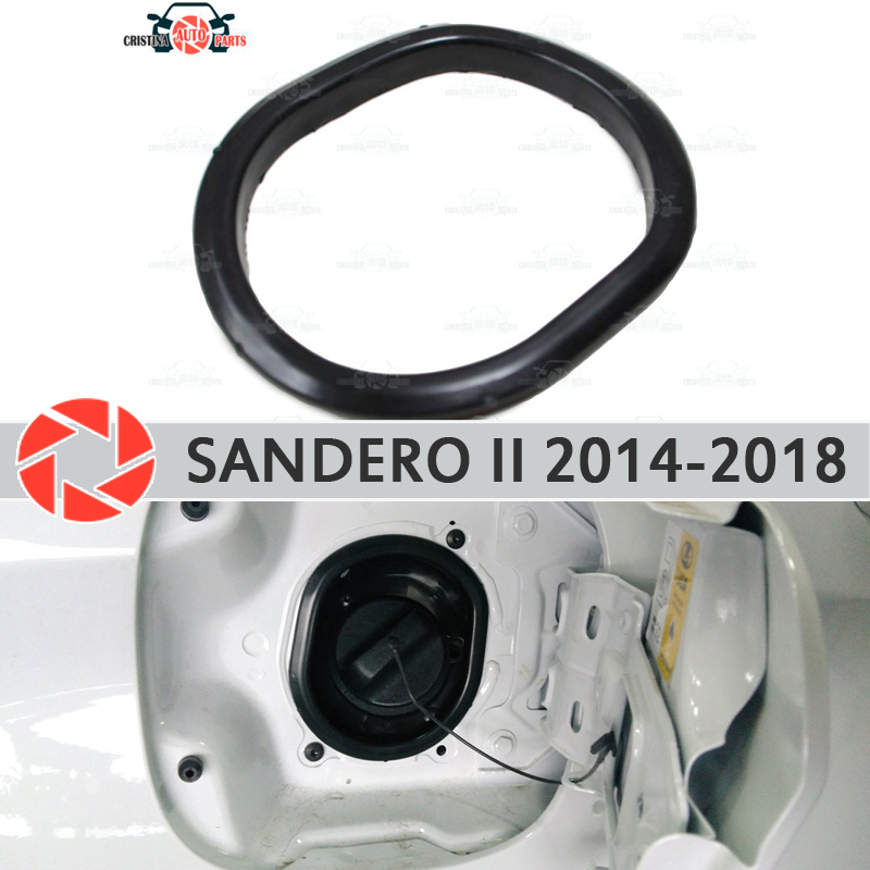 Cover in the opening hatch fuel for Renault Sandero 2014-2018 trim accessories protection car styling decoration filler neck ruffle trim tie neck chiffon blouse