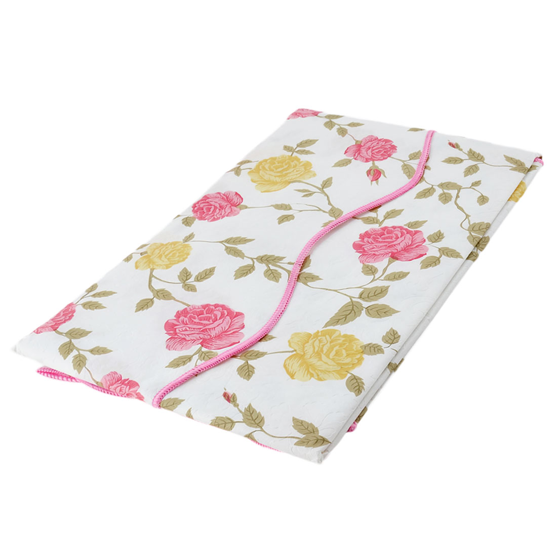 UXCELL Home Picnic Bi Color Rose Pattern Water Resistant Oil Proof  Tablecloth Table Cloth Cover 72 X 54 Inch