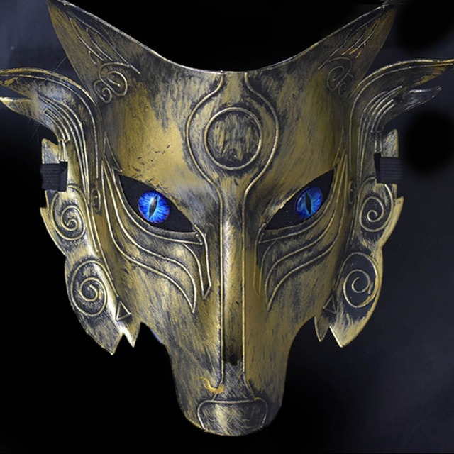 US $2 57 |New Scary Wolf Head Masks Masquerade Costume Halloween Party  Masks Creepy Animal Mask For Adult Cosplay Prop-in Party Masks from Home &