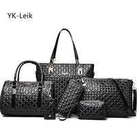 YK Leik Brand 2017 Summer Latest Style Women Luxury Handbag Casual Composite Bag Women PU Leather