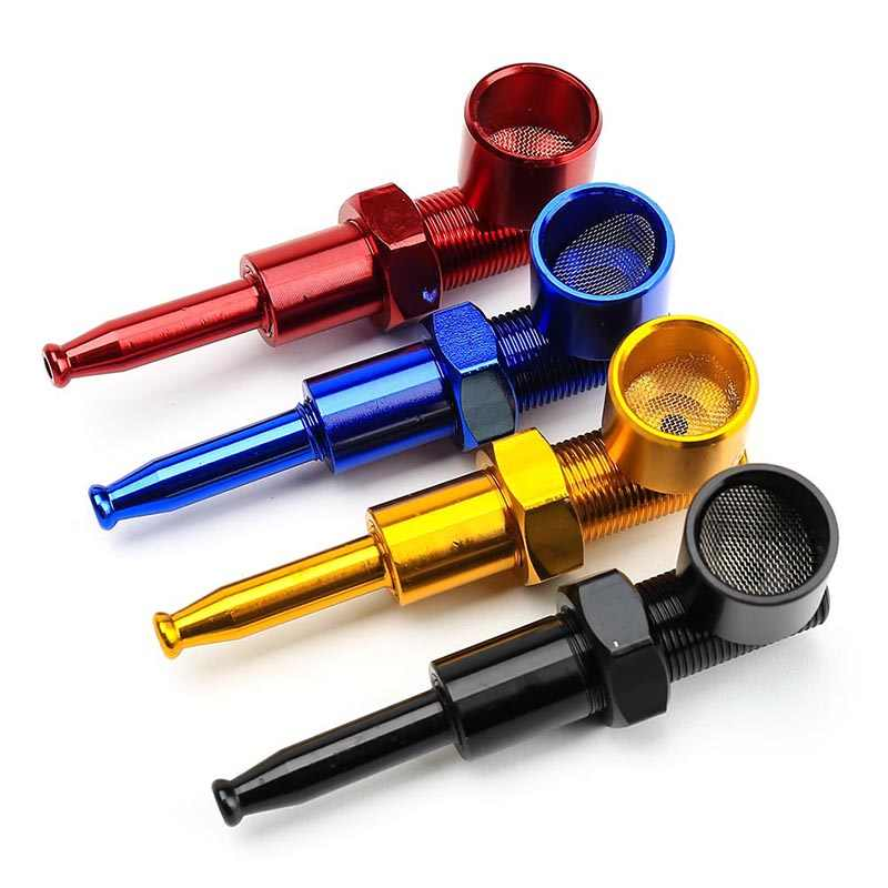 New Model Screw Metal Smoking Pipes Cigarette Pipe Gift Smoke Sets Distribution