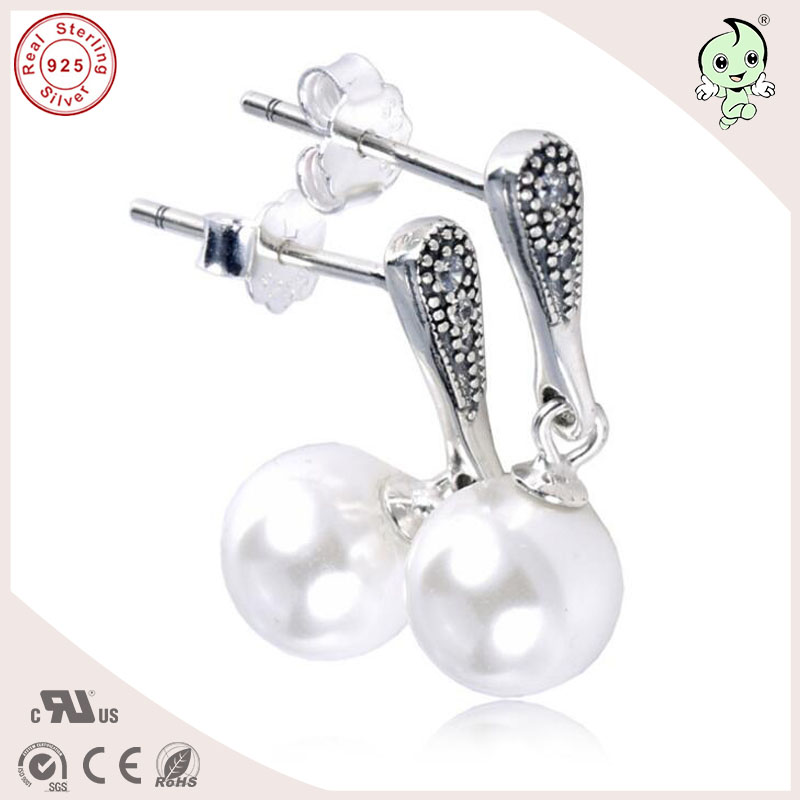 Popular Pearl Hanging Earrings New Collection Characteristic Pearl 925 Sterling Silver Elegant Beauty Earings Fashion Jewelry in Stud Earrings from Jewelry Accessories
