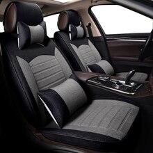 KOKOLOLEE спереди + заднее сиденье автомобиля чехлы для CR-V city 2016 civic Accord льна автоаксессуары- стайлинг автокресла протектор
