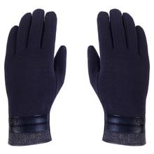 1 Pair men warm Tactiles Gloves for Telephone Screen Autumn-Winter C--Dark Blue